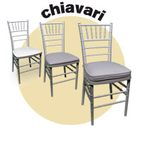 FURNITURE/SPECIAL EVENT RESIN CHAIRS / RESIN CHIAVARI STACKING CHAIRS