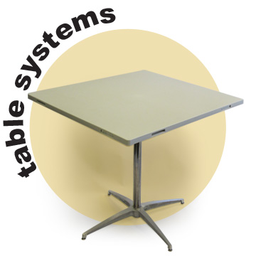 Furniture/Modular Banquet tables systems for banquet halls, convention centers, Catering tables, Rental Tables, Stools and bar tables