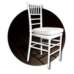 CHIAVARI CHAIRS: fiberglass reinforced resin stacking ballroom chairs for amazing events