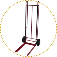 Chair hand truck, 2 wheels single axle
