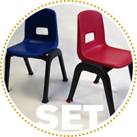 D130 Set of 2 Stackable School Chairs, 12
