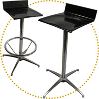 DSN Elle 30in. H Stool Catering/Rental Style (spider aluminum base)