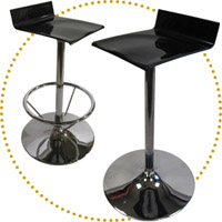 DSN Elle 30in. H Stool Conference Style (chrome trumpet base)